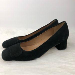 Talbots Black Square Toe Heels 6